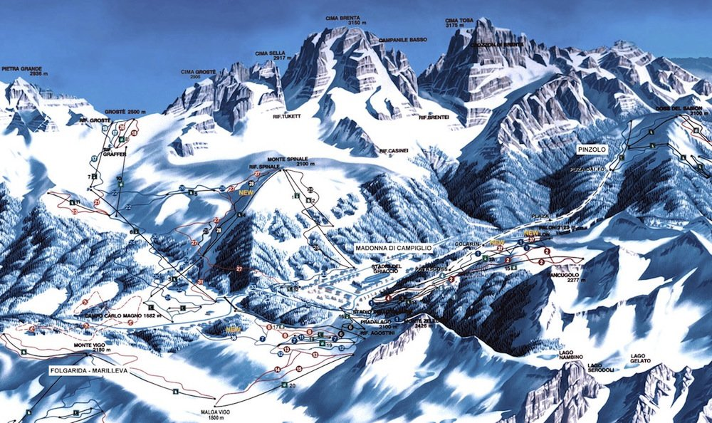 Ski Resort of Madonna di Campiglio