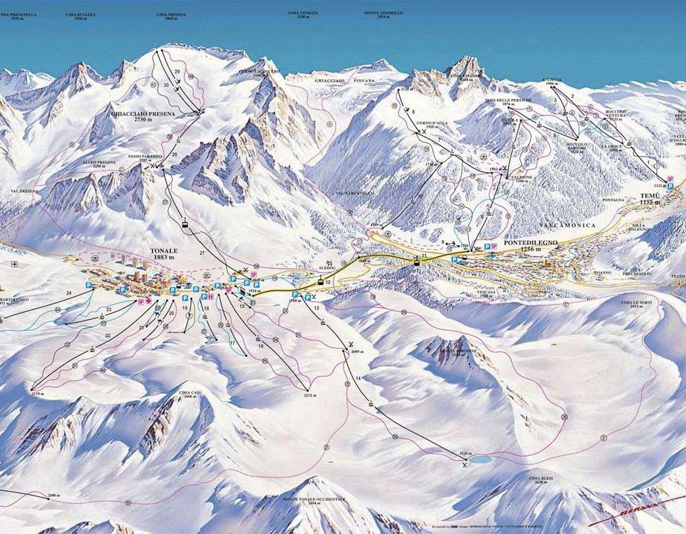 Ski Resort of Ponte di Legno