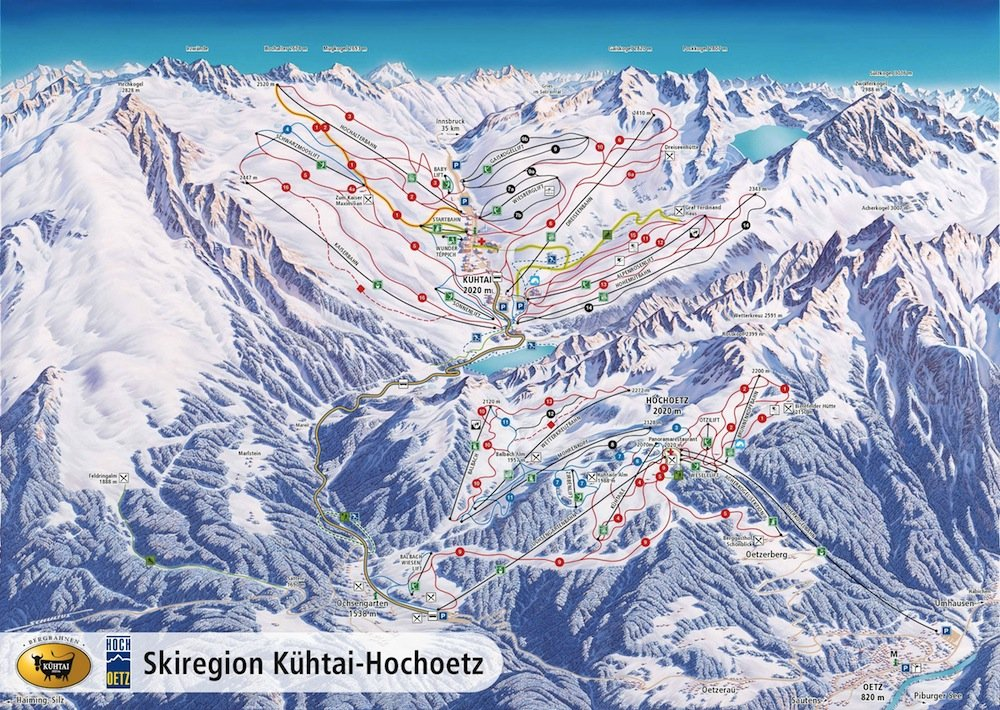 Ski resort map of Kuhtai
