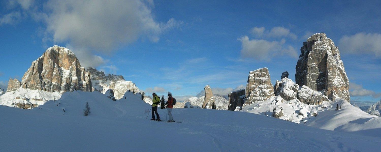 ski safari dolomites cinque torri