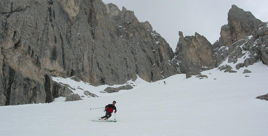freeride skiing dolomites