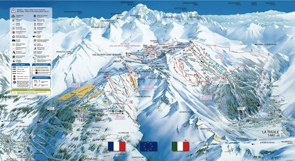 Ski resort map of La Thuile