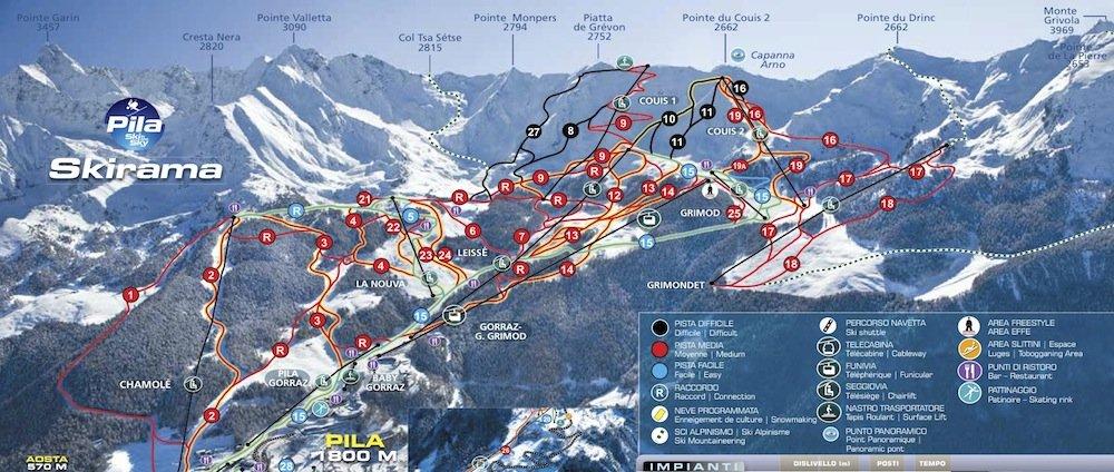 monterosa freeride, pila ski, freeride pila
